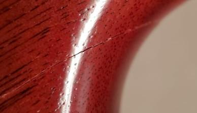 guitar damage close up